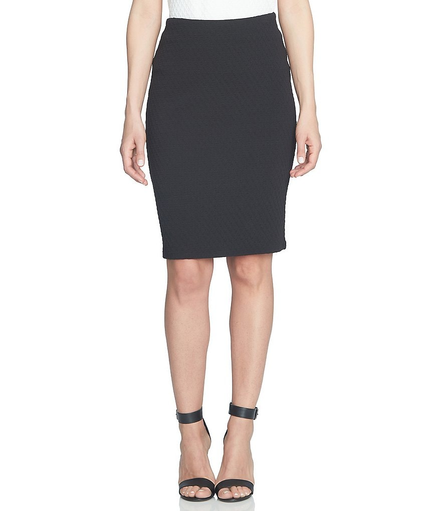 CeCe Knit Jacquard Tube Pencil Skirt