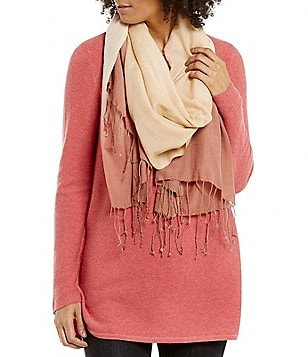 Eileen Fisher Wool Silk Ombre Scarf