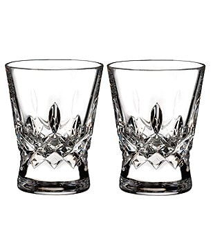 Waterford Lismore Pops Crystal Shot Glass Pair