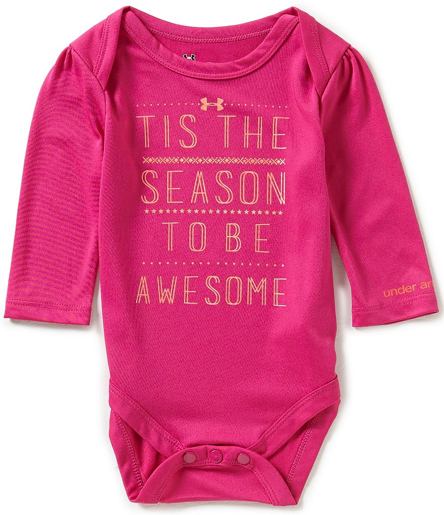 Under Armour Baby Girls Newborn-12 Months Christmas Tis The Season Bodysuit