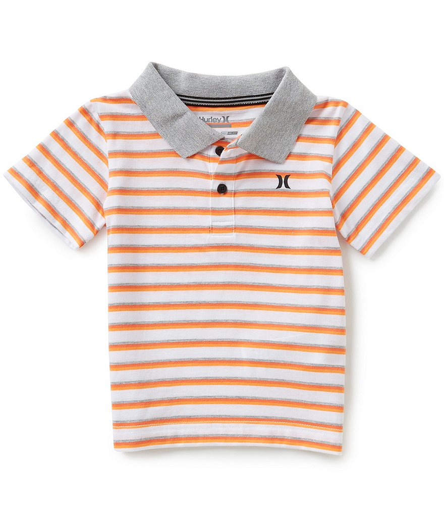 Hurley Little Boys 2T-7 Classic Striped Polo Shirt