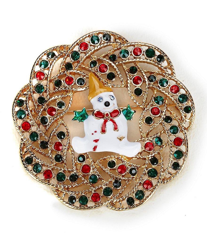 Merry & Bright Mr. Bingle Wreath Pin