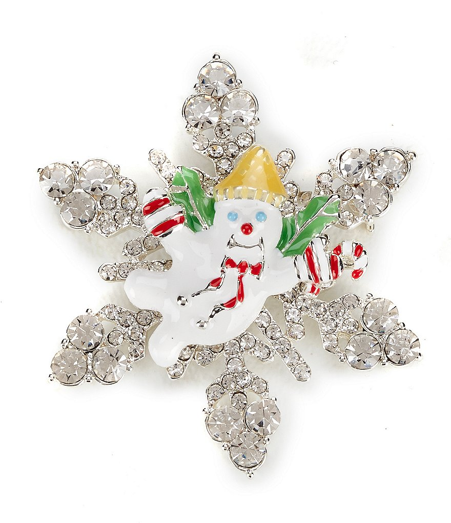 Merry & Bright Mr. Bingle Snowflake Pin
