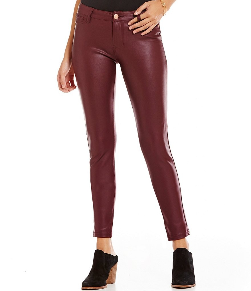 Celebrity Pink Coated Super-Soft Ponte Skinny Jeans