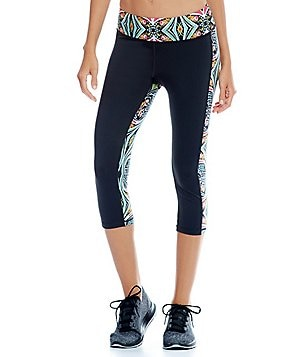 Gianni Bini Active Gemma Pieced Print Capri