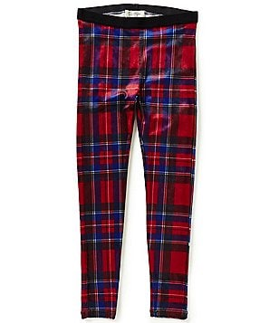 Jessica Simpson Big Girls 7-16 Glimmer Novelty Plaid Leggings