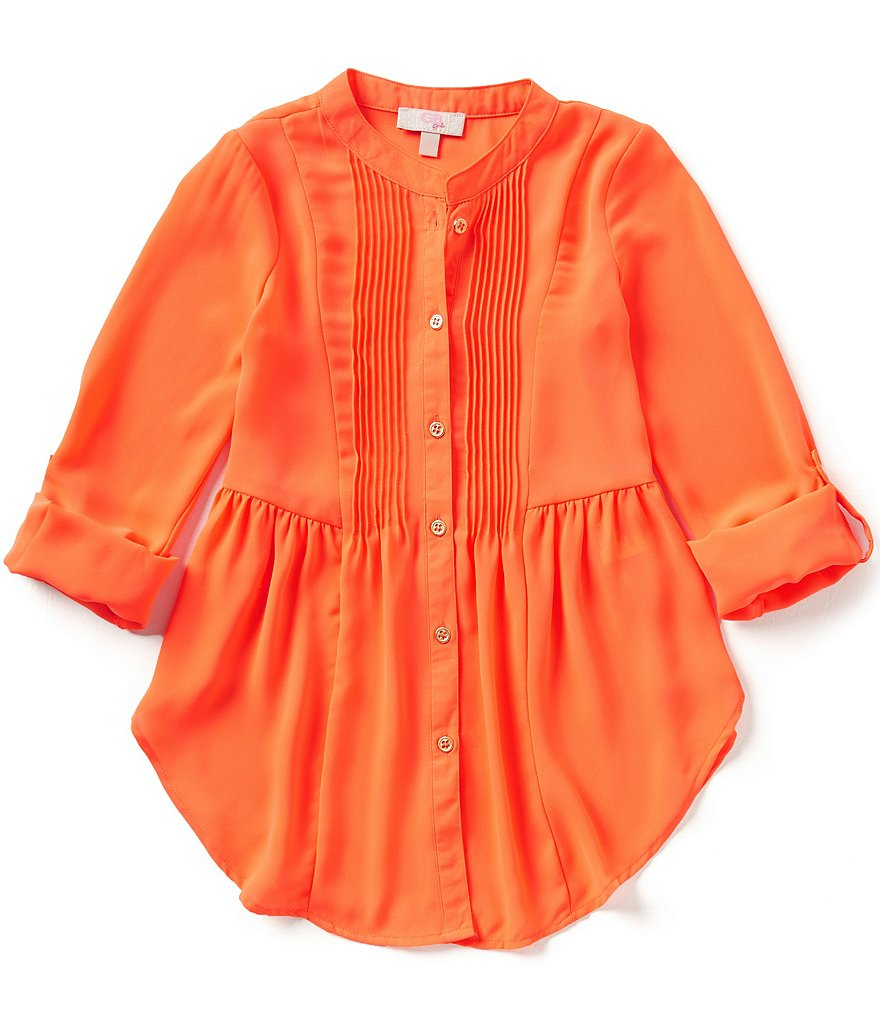 GB Girls Big Girls 7-16 Fan-Fav Pintuck Blouse