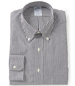 Brooks Brothers Regent-Fit Striped Non-Iron Button-Down-Collar Dress Shirt