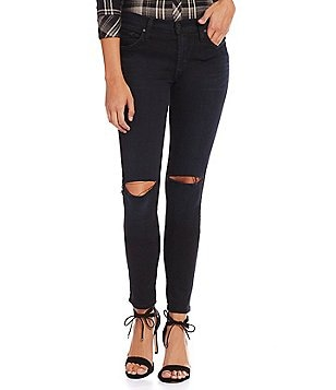 James Jeans Twiggy Mid-Rise Skinny Knee Slit Jeans