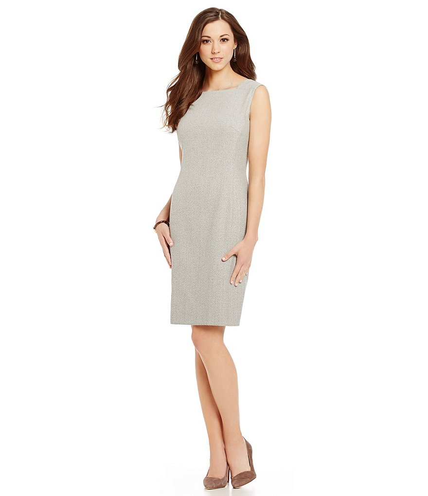 Antonio Melani Lubine Ombre Herringbone Sheath Dress