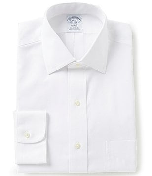 Brooks Brothers Regent-Fit Non-Iron Spread-Collar Solid Dress Shirt