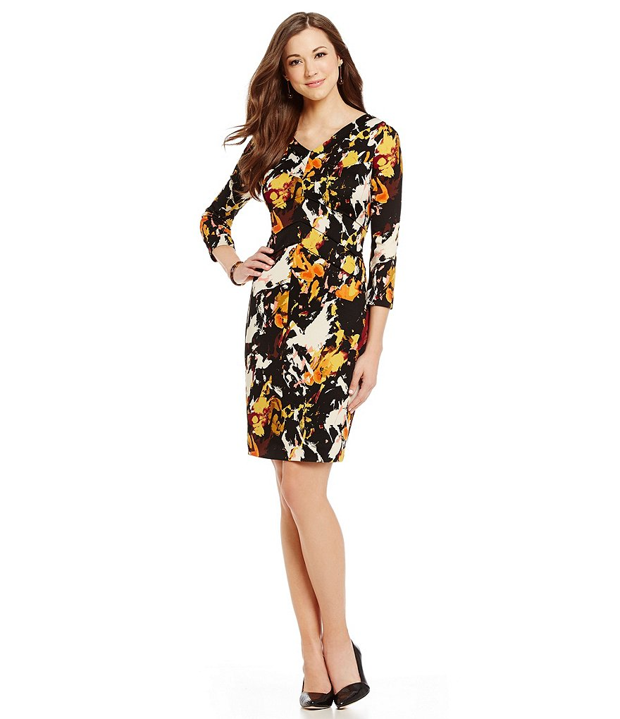 Antonio Melani Simmons Printed Scuba Sheath Dress