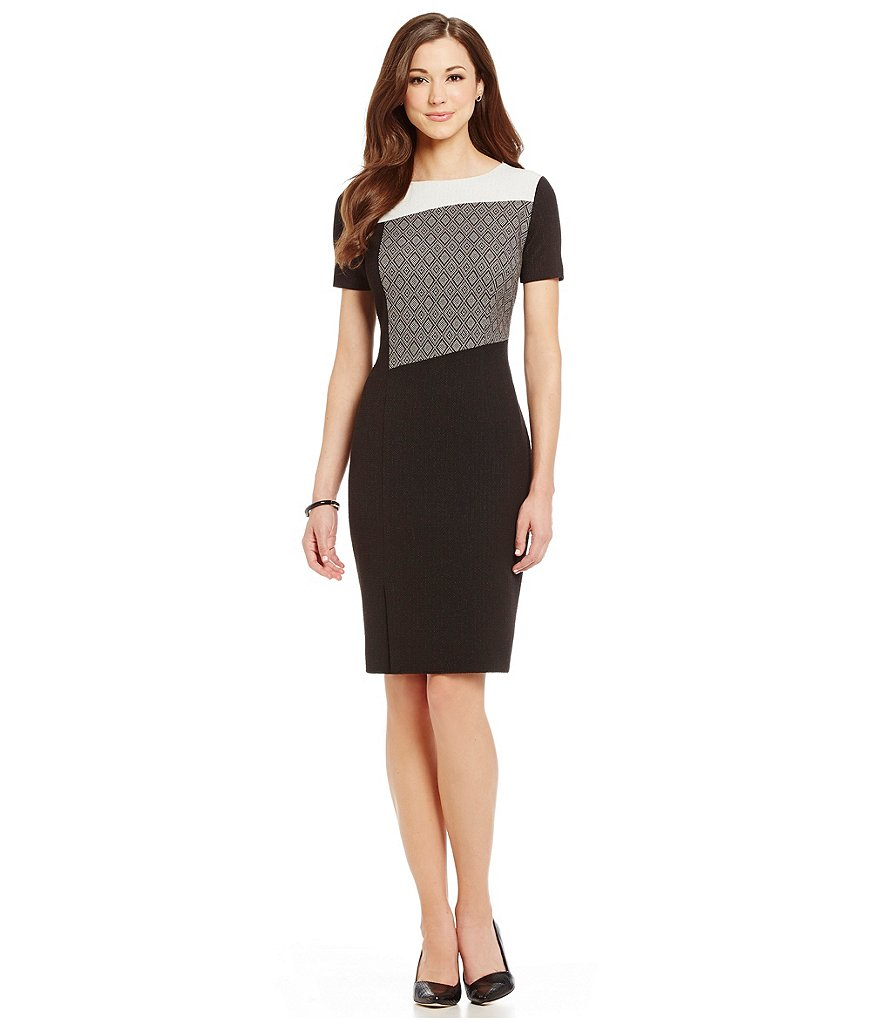 Antonio Melani Margaux Jacquard Sheath Dress