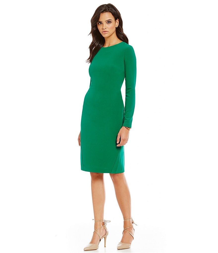 Cremieux Bari Crepe Long Sleeve Dress