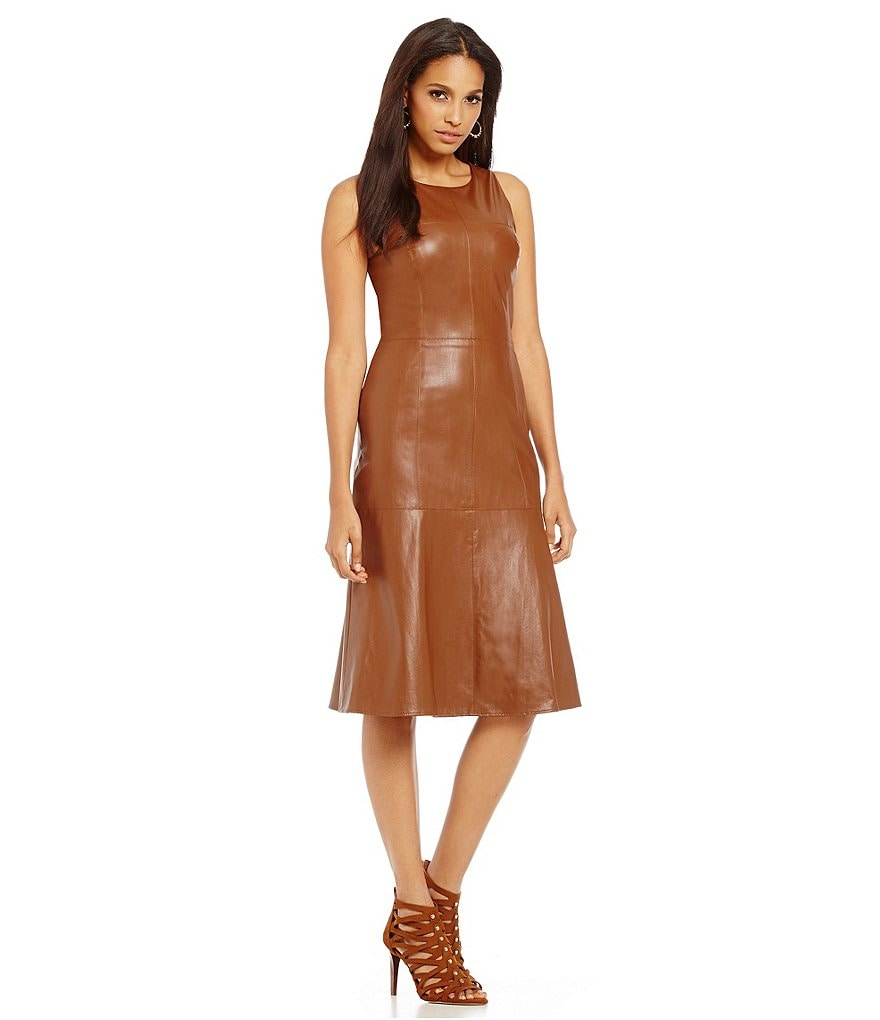 Cremieux Rokko Sleeveless Faux Leather Dress
