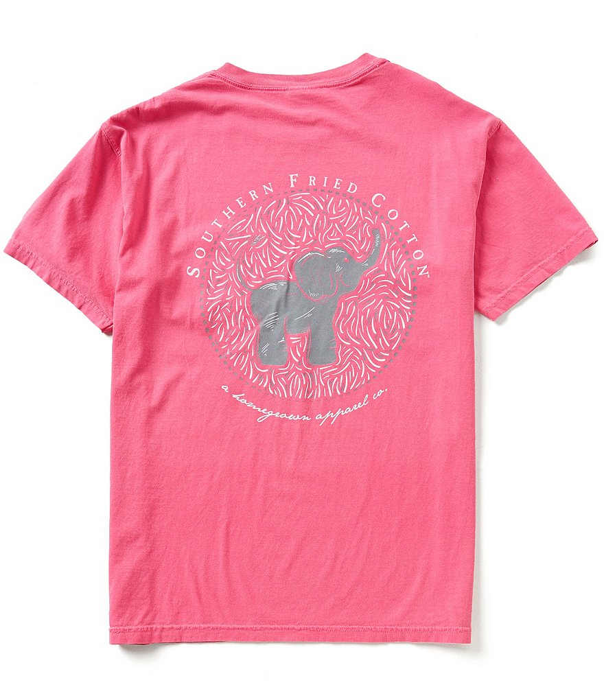 Southern Fried Cotton Baby Elephant Graphic Short-Sleeve Pocket Tee