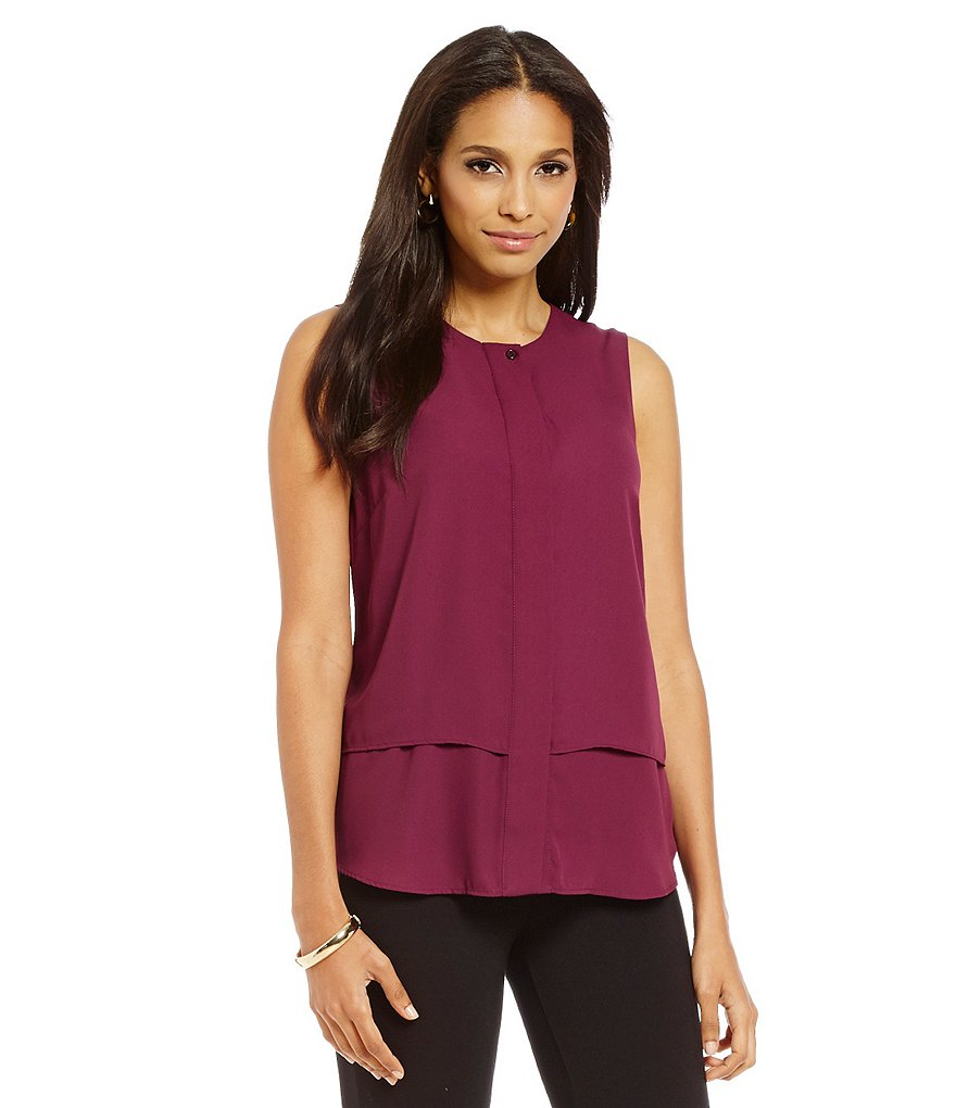 Cremieux Maria Layered Sleeveless Blouse