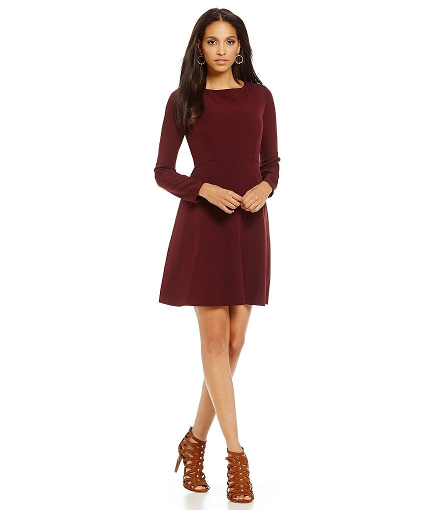 Cremieux Anne Crepe Long Sleeve Dress