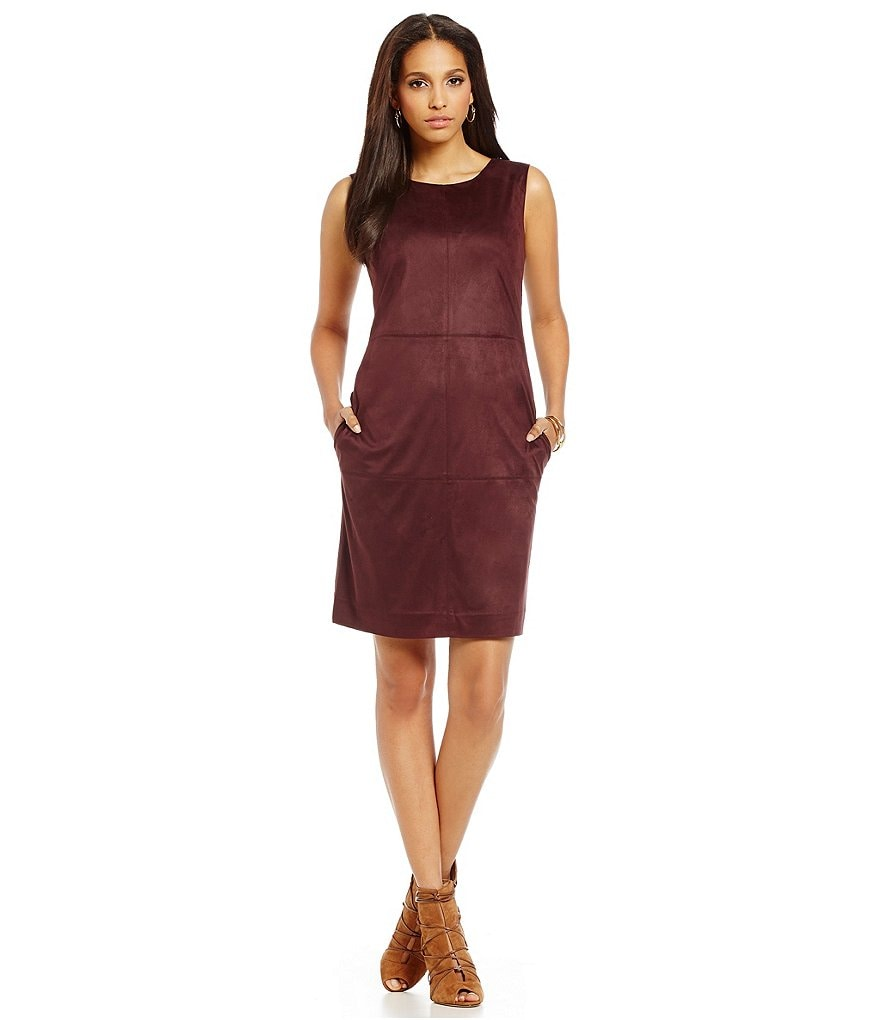 Cremieux Annette Suede Sleeveless Dress