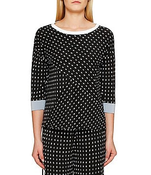 DKNY Dotted Jersey Sleep Top