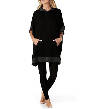 DKNY Hooded French Terry Lounge Poncho
