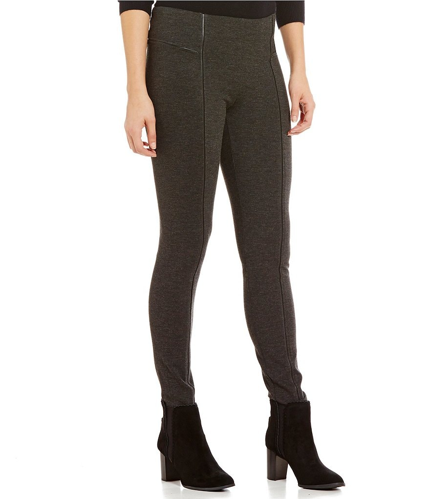 Alex Marie Fiona Faux-Leather Piping Skinny Fit Pant