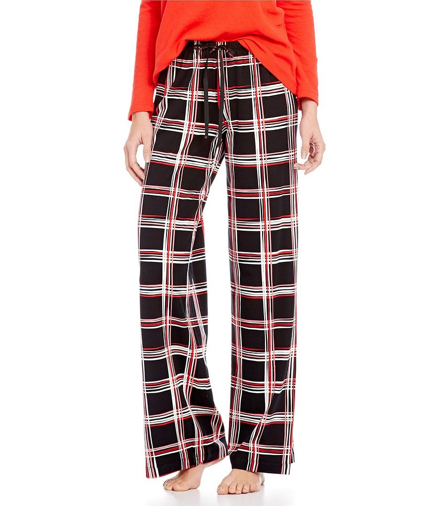 HUEtopia Plaid Windowpane Sleep Pants