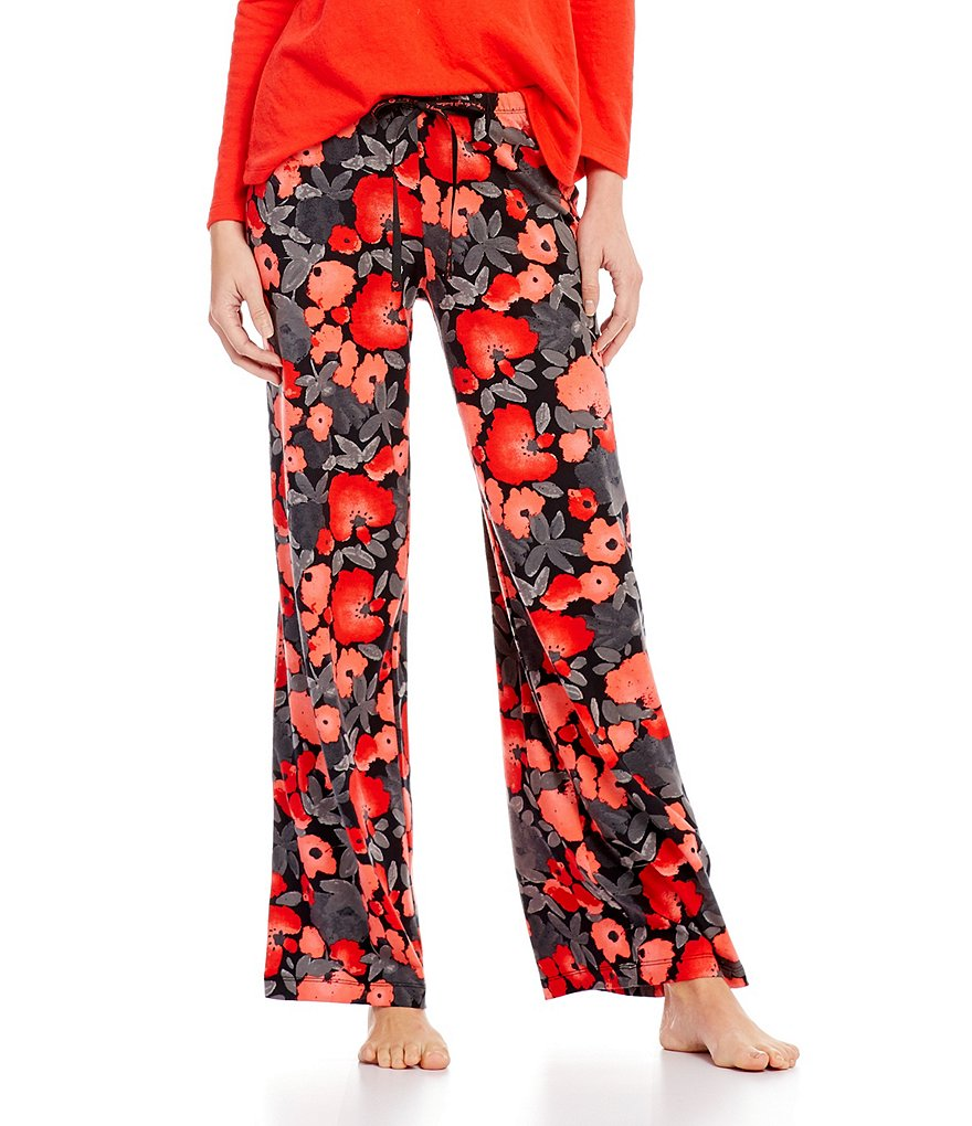 HUEtopia Poppy Love Floral Sleep Pants