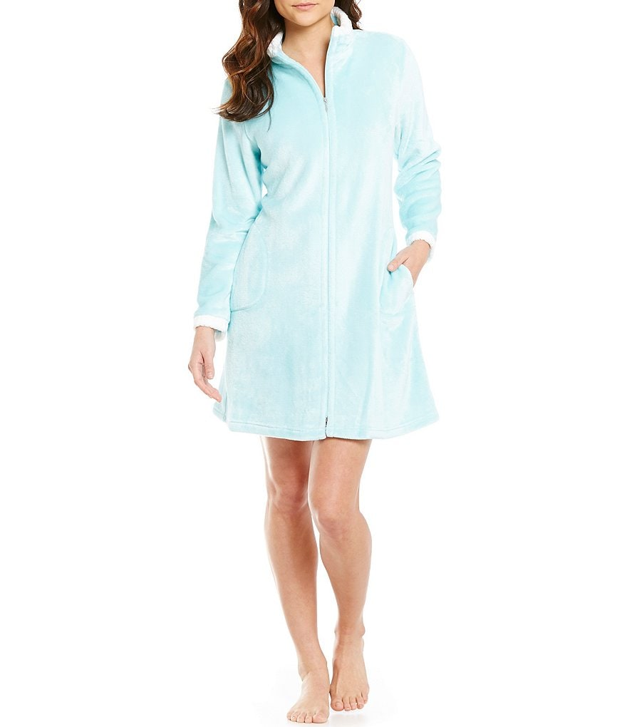 Miss Elaine French Fleece Zip Robe