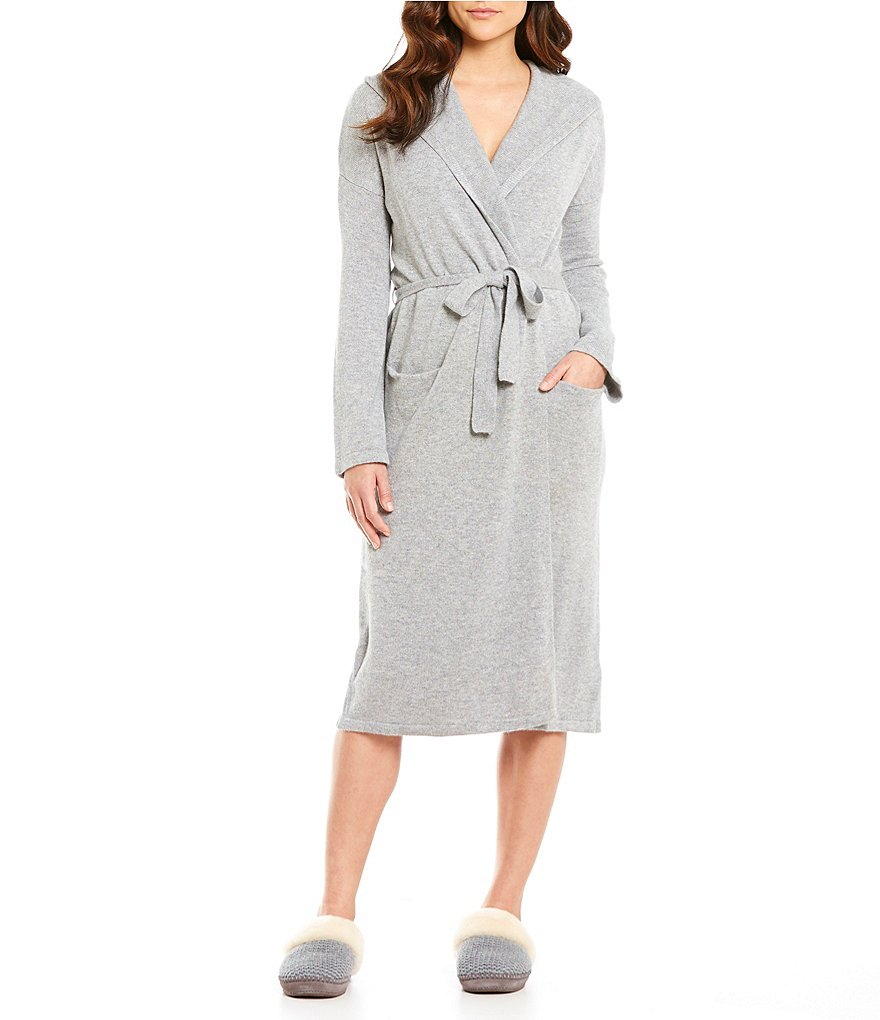 UGG® Evie Hooded Cashmere Wrap Robe