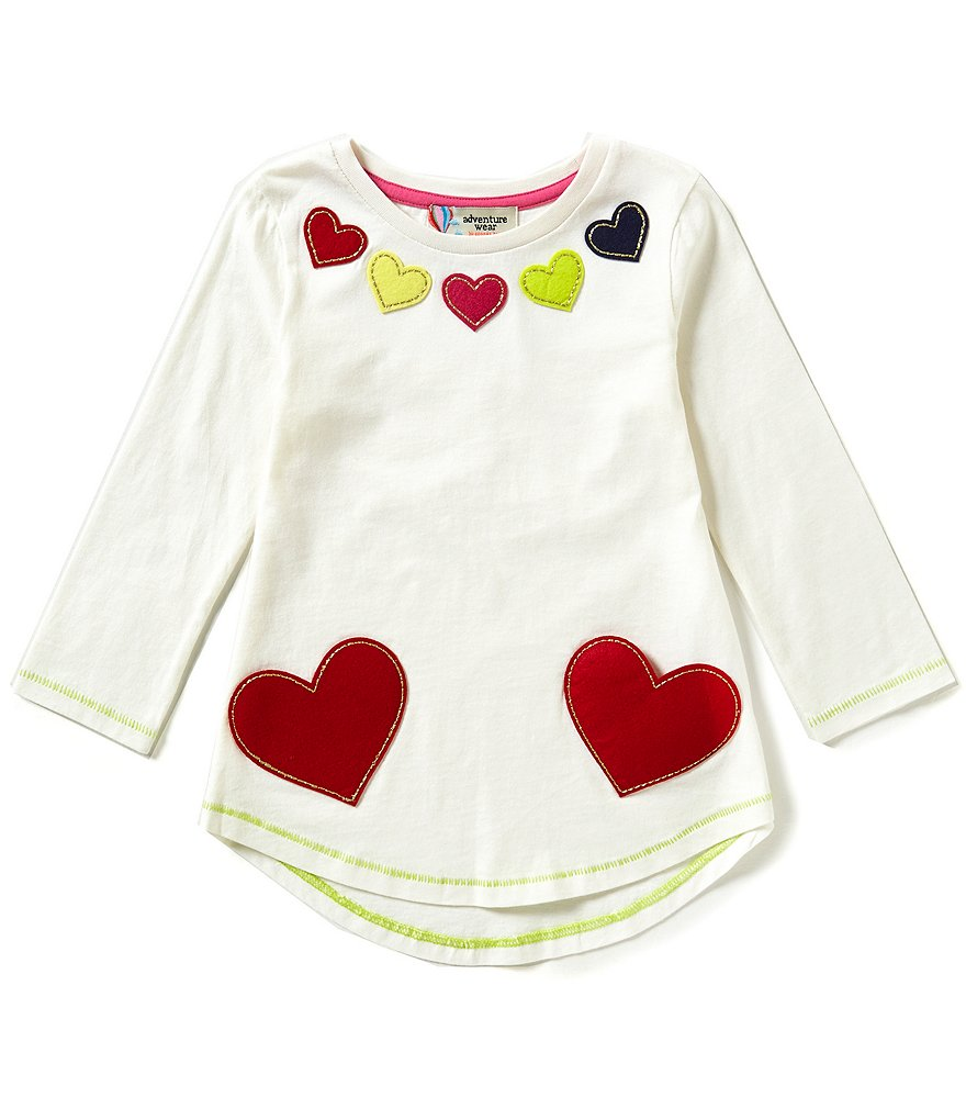 Adventure Wear by Copper Key Little Girls 2T-4T Heart Tunic Top