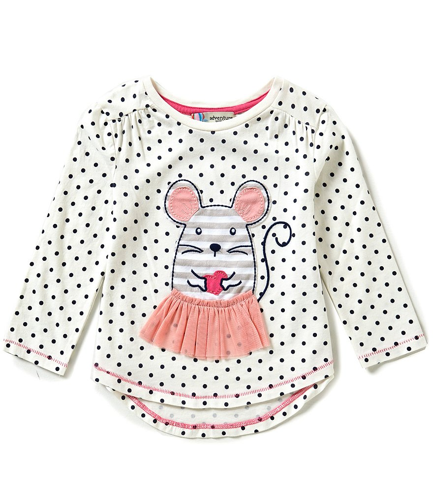 Adventure Wear by Copper Key Little Girls 2T-4T Dotted Mouse Tunic Top