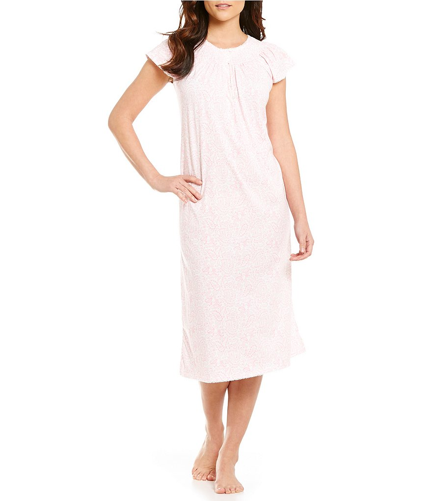 Miss Elaine Petite Paisley Silky Nightgown