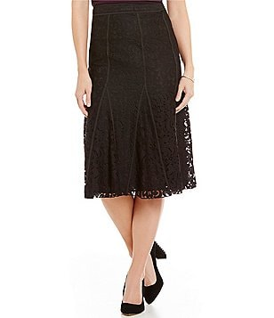 KARL LAGERFELD PARIS Lace A-Line Skirt