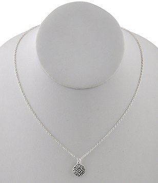 Calvary Sterling Silver J-Scroll Pendant Necklace