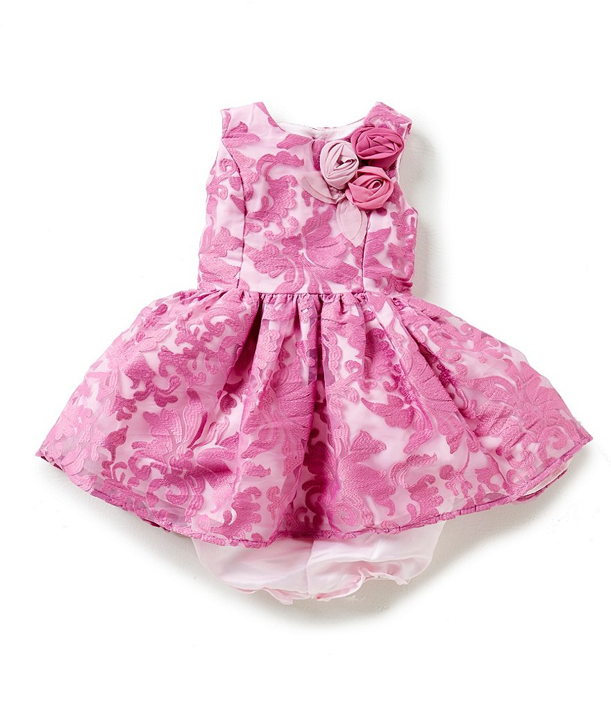 Pippa & Julie Baby Girls 12-24 Months Lace Embellished Dress