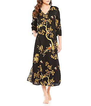 N by Natori Blissful Forest Satin Caftan