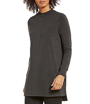 Eileen Fisher Tencel Stretch Jersey Mock Neck Tunic