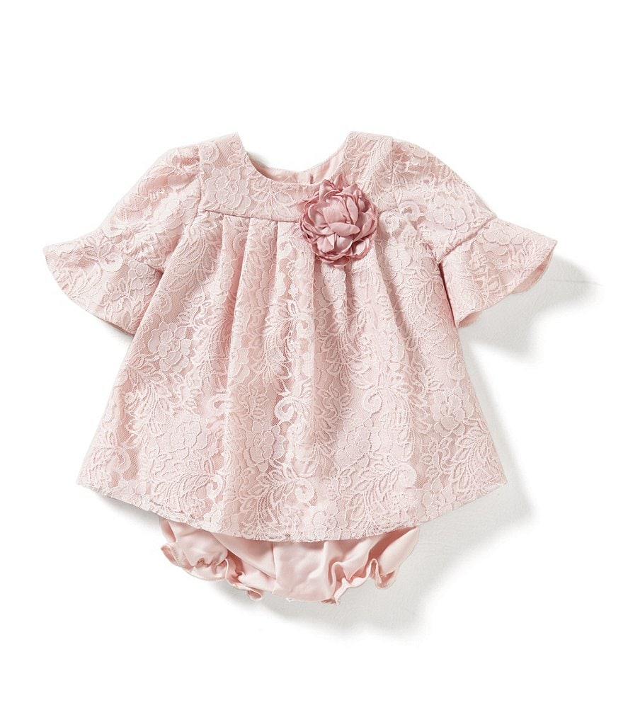 Laura Ashley London Baby Girls Newborn-24 Months Lace Overlay Dress
