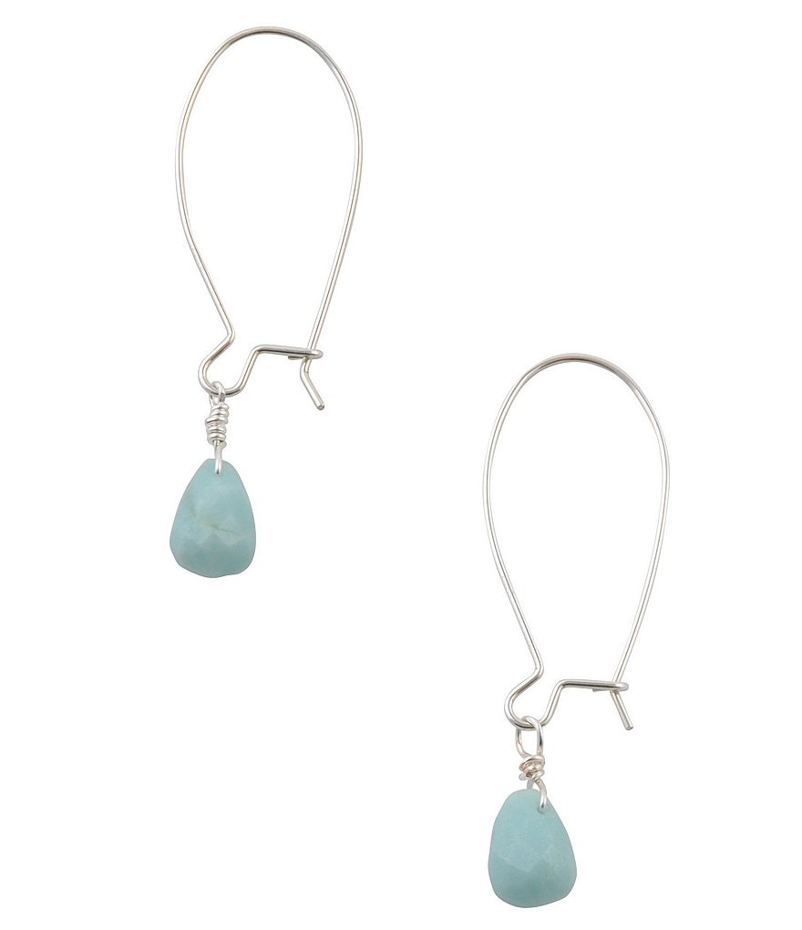 Calvary Sterling Silver & Amazonite Drop Earrings