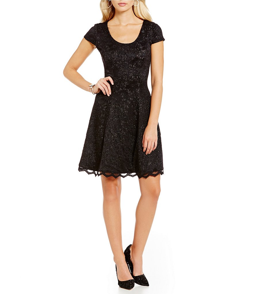 Belle Badgley Mischka Fit-and-Flare Tina Dress