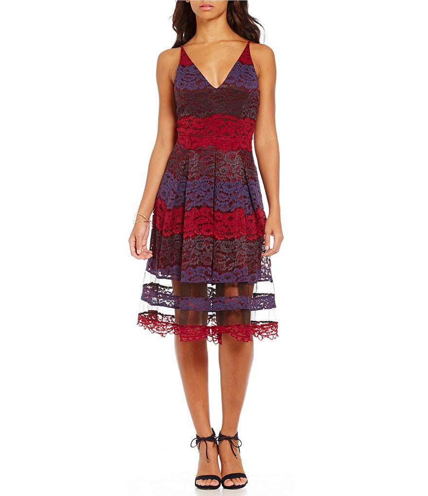 Belle Badgley Mischka Fit-and-Flare Valencia Dress