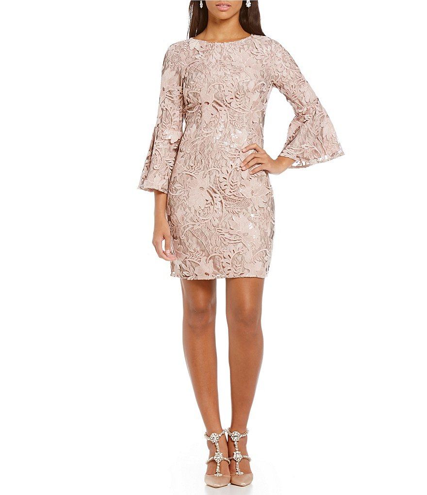 Belle Badgley Mischka Bell Sleeve Vanessa Dress