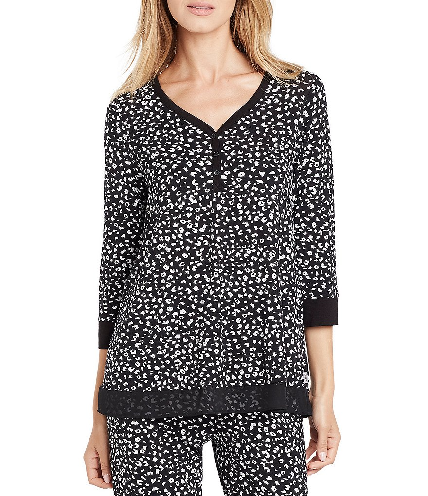DKNY Animal-Print Jersey Sleep Top