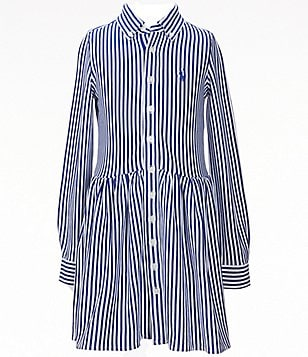 Ralph Lauren Childrenswear Big Girls 7-16 Bengal-Stripe Long-Sleeve Interlock Dress