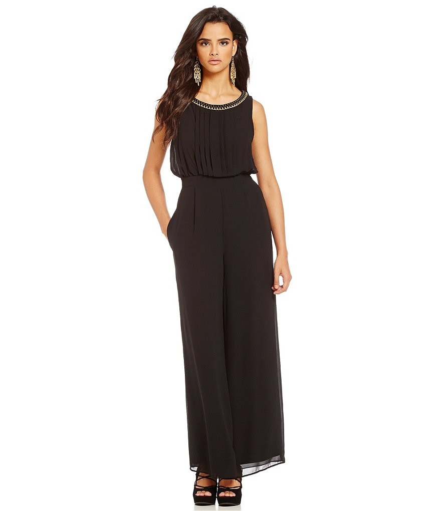 Jessica Simpson Beaded Neck Jumpsuit