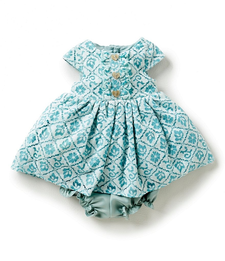 Laura Ashley London Baby Girls Newborn-24 Months Diamond-Print Dress