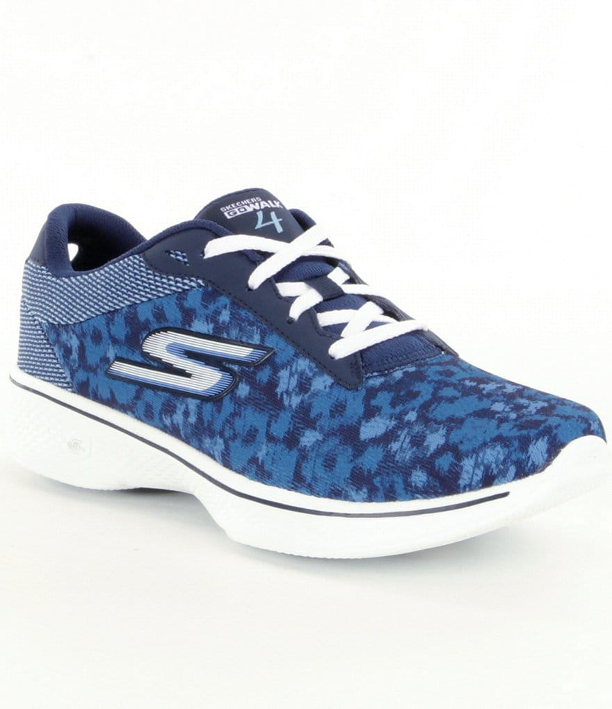 Sketchers Go Walk 4-Excite Lace-Up Sneakers