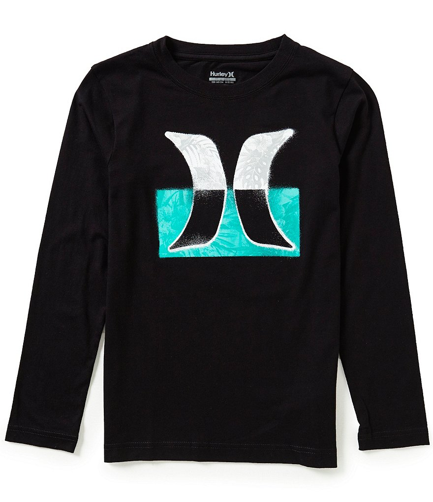 Hurley Big Boys 8-20 Overspray Long-Sleeve Tee