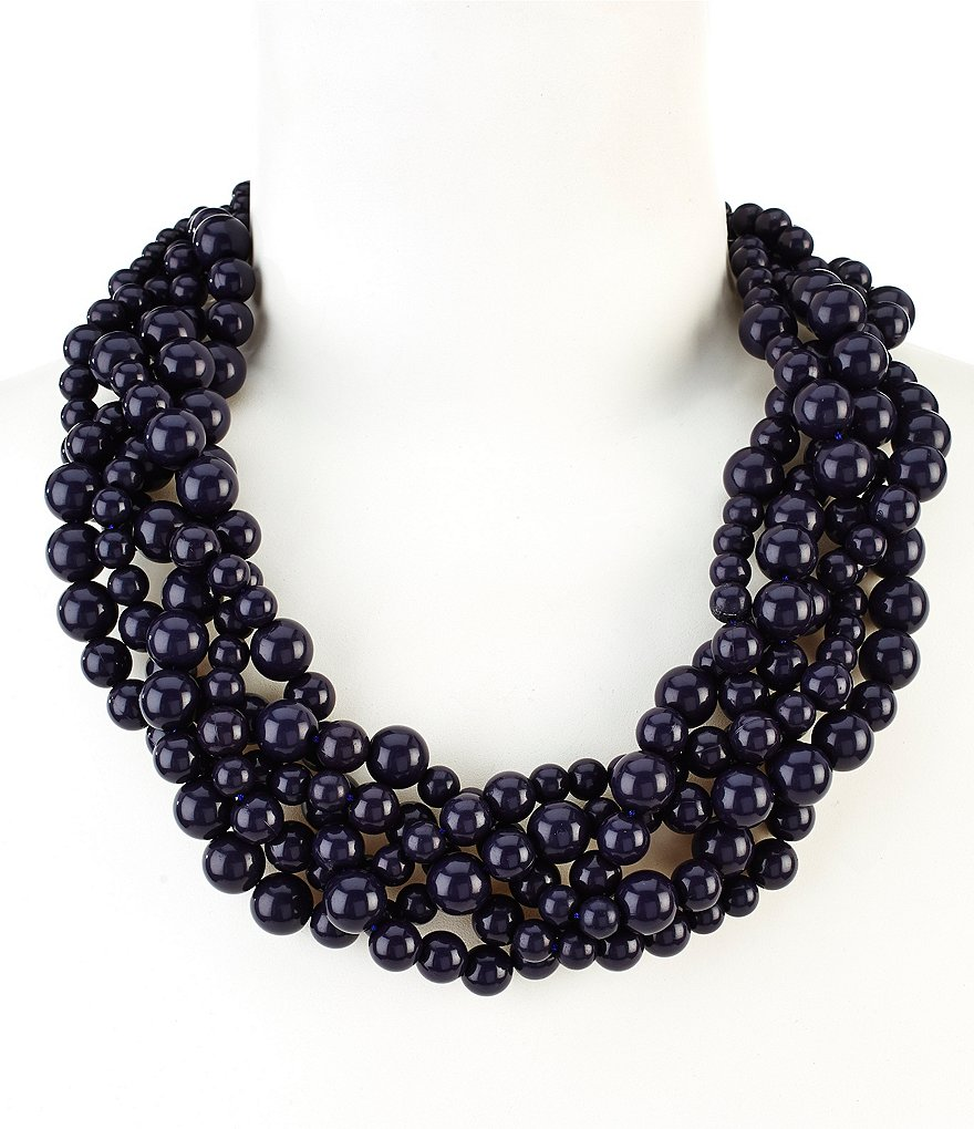Anna & Ava Elle Braided Bead Multi-Strand Necklace